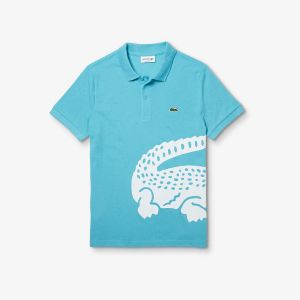 Men's Lacoste Oversized Crocodile Print Polo Shirt