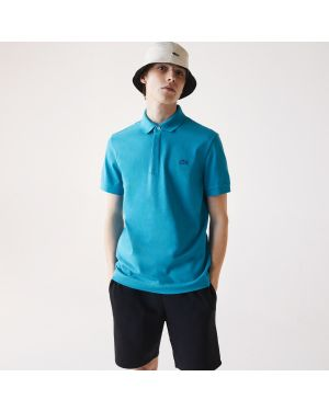 Men's Lacoste Paris Polo Shirt Regular Fit Stretch Cotton Pique