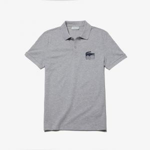 Men's Lacoste Slim Fit 3D Croc Cotton Petit Pique Polo Shirt