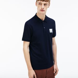 Men's Lacoste Regular Fit Patch Cotton Petit Pique Polo