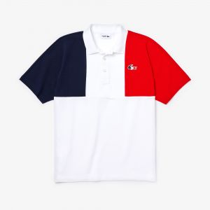 Men's Lacoste Sport Jeux Olympiques Tricolour Cotton Polo Shirt