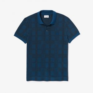 Men's Lacoste Regular Fit Glen Plaid Print Cotton Polo Shirt