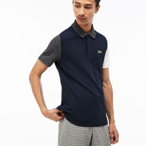 Men's Lacoste Live Slim Fit Colorblock Cotton Petit Pique Polo
