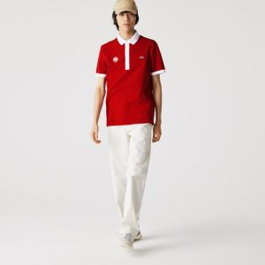 Men's Lacoste SPORT French Open Edition Cotton Pique Polo Shirt