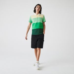 Men's Lacoste Regular Fit Fresh Colourblock Cotton Pique Polo Shirt