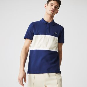 Men's Lacoste Regular Fit Colourblock Cotton Pique Polo Shirt
