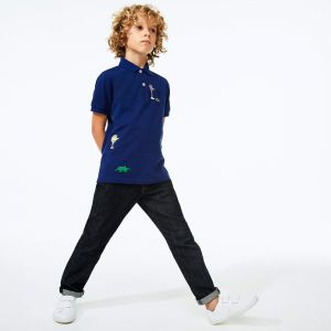 Boys' Lacoste x Jeremyville Design Cotton Polo Shirt