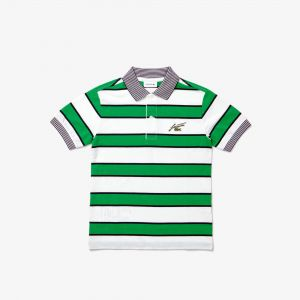 Boys' Lacoste Striped Cotton Pique Polo Shirt