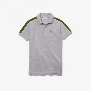 Boys' Lacoste Colorblock Bands Petit Pique Polo Shirt
