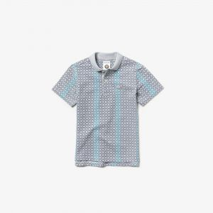 Boys' Lacoste Sport French Open Edition Print Mini Pique Polo Shirt