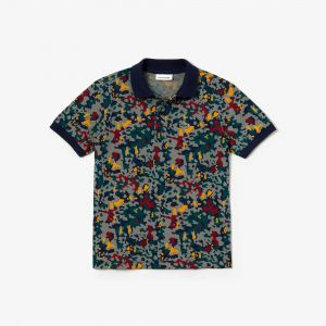 Boys' Lacoste Camouflage Print Cotton Pique Polo Shirt