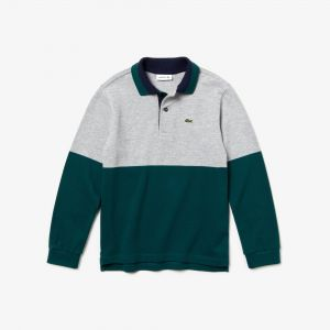Boys' Lacoste Colourblock Cotton Pique Polo Shirt
