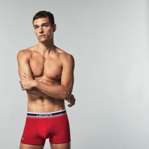 Lacoste Pack Of 3 Colours Boxer Briefs With Three-Tone Waistband