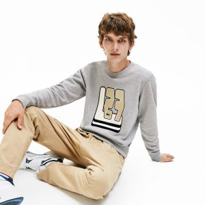 Men's Crew Neck L27 Print Cotton Blend Sweatshirt