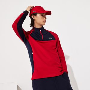 Men's Lacoste Sport Breathable Uv Protection Zip Golf Sweatshirt