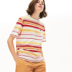 Women's Crew Neck Striped Cotton T-Shirt