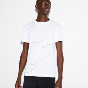 Men's Lacoste Sport Crew Neck Oversized Croc Print Tech Jersey T-Shirt