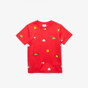 Boys' Lacoste X Friendswithyou Print Cotton T-Shirt