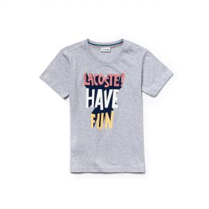 Boys' Crew Neck Lettering Jersey T-Shirt