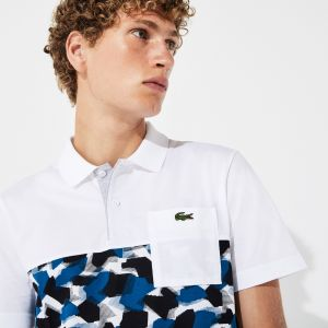 Men's Lacoste SPORT Pocket And Print Band Ultra-Light Cotton Polo Shirt