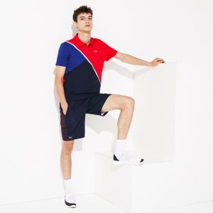 Men's Lacoste Sport Colourblock Ultra Light Cotton Tennis Polo Shirt