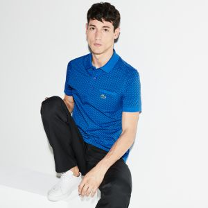 Men's Lacoste Sport Print Ultra-Light Cotton Golf Polo